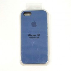 Чехол iPhone 5/SE Soft-Touch Silicone Case темно-синий 22