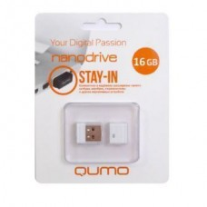 флешка USB Flash 16GB QUMO Stay-in белый