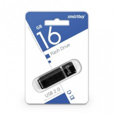 флешка USB Flash 16GB Smartbuy Quartz черный
