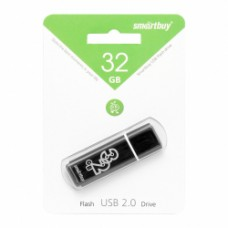 флешка USB Flash 32GB Smartbuy Glossy черный