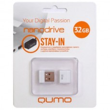 флешка USB Flash 32GB QUMO Stay-in белый